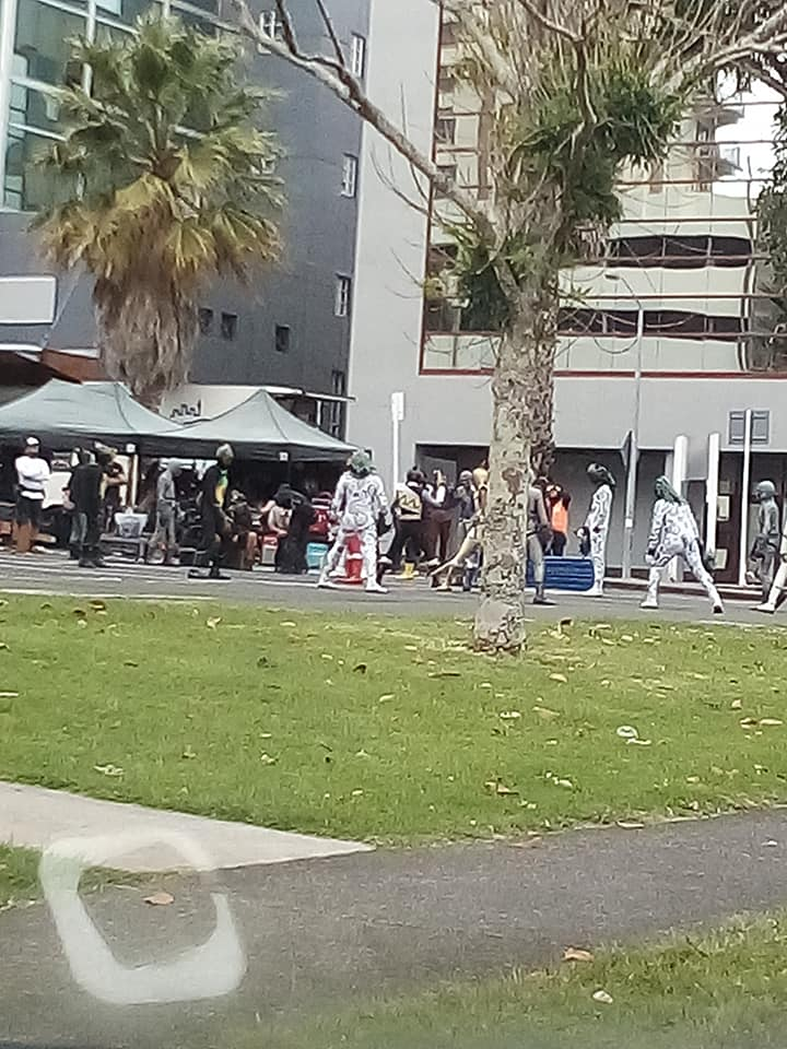 On Set Images of Power Rangers Beast Morphers and Dino Charge