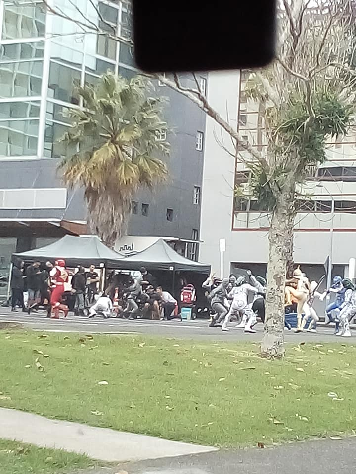 On Set Images of Power Rangers Beast Morphers and Dino